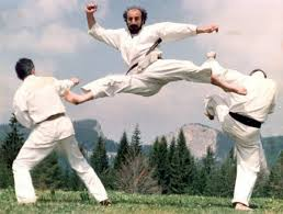 Sensei Dan Stuparu in a Flying Double Kick